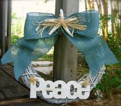 WreathHoliday Beach House Decor Rustic by sandnsurfcreations, $67.50