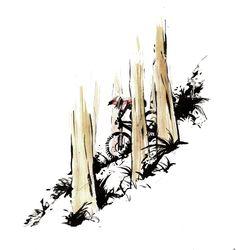 Sketch - Sketchy Lines Bicycle Painting, Bicycle Art, Moutain Bike, Mountain Biking, Celtic Warrior Tattoos, Bike Craft, Mt Bike, Bike Sketch, Bike Drawing