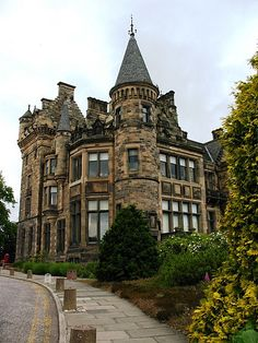 Scotland The backside of Cinderella Castle The Atlantic Road, Norway. The dorms at the University of Edinburgh, in Edinburgh, Scotland castl. Oh The Places You'll Go, Places To Travel, Places To Visit, Beautiful Buildings, Beautiful Places, England, Famous Castles, Scotland Travel, Edinburgh Travel
