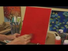 How to Paint with Acrylic Paint: Painting a Simple Background