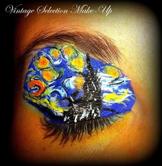 http://www.youtube.com/watch?v=zSZB343C528 #vangogh #starrynight #art #painting #makeup #limecrime