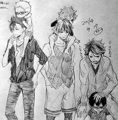 BABY tsukki baby hinata and baby kageyama cool kuroo shy(?) bokuto WITH FLAT HAIR and oikawa trying to disturb Kageyama