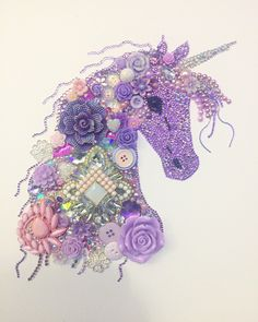 Extra sparkly Unicorn Button Art £70.00 plus postage Uk