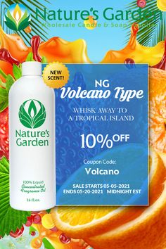 SALE! 10% Off our NEW NG Volcano Type Fragrance Oil