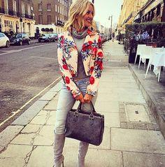 Caggie Dunlop wears our Gabrielle Biker Jacket