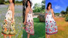 Strap dress/Women  dress floral print/Sun dress/summer by Danideng, $45.00