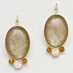 Dannie Earrings in Champagne on Emma Stine Limited.  $38