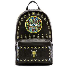 UNIF Church of UNIF Backpack Bags ($185) ❤ liked on Polyvore featuring bags, backpacks, handbags, leather backpack, fake leather backpack, leather knapsack, backpack laptop bag and leather bags