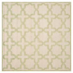 Safavieh Marnie Texture Wool Rug - Ivory / Light Green (6' X 6' Square), Ivory/Light Green