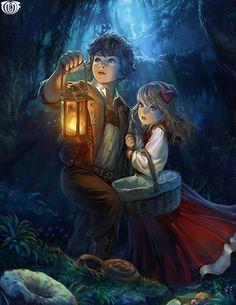 Artist: Kyoungmin Park aka kkomjirak (kiyoCAT illust) - Title: Unknown - Card: Lost Hansel & Gretel