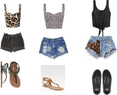 """""""crop tops and high waist shorts"""" by hope-martens on Polyvore"""