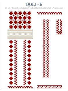 Semne Cusute: OLTENIA - model de ie din Dolj Cross Stitch Borders, Cross Stitch Flowers, Cross Stitching, Cross Stitch Patterns, Embroidery Motifs, Shirt Embroidery, Palestinian Embroidery, Galaxy Wallpaper, Beading Patterns