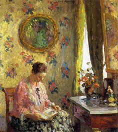 radstudies:  Gari Melchers (American, 1860-1932) Lady Reading