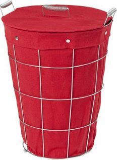 CreativeWare Simply Storage Hamper with Liner, Red by CreativeWare. $33.75. Sleek desing with spring accent handles and chrome snaps. Heavy weight chrome plated steel wire construction. Convenient laundry storage for bathroom, bedroom, laundry room, dorm and more. Removable/washable cotton/poly liner. At Creative Bath Products, Inc., we are constantly looking to the future, always focusing on the Big Picture, since we realize that tomorrow's business successes and expansion...