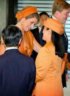 MyRoyals:  Dutch State Visit to Japan, October 29, 2014-Queen Maxima and Crown Princess Masako