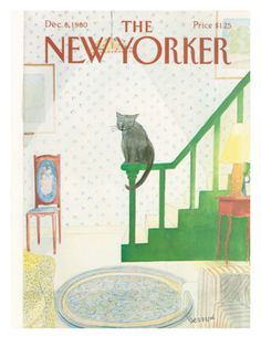 The New Yorker Cover - December 8 1980 - by Jean-Jacques Sempé The New Yorker, New Yorker Covers, Illustrations, Illustration Art, Magazine Art, Magazine Covers, Photo Chat, Japanese Prints, Cat Drawing