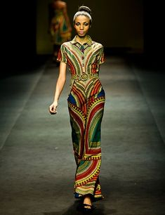African Fashion! Red green blue
