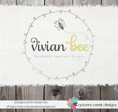 Premade Logo Design  Hand Drawn Swirl Frame Bee by autumnscreek, $55.00