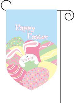 Monogrammed Easter Bunny Garden Flag $39.95
