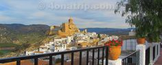 Iznajar Spain, Castle and Church tower view.   4OnATrip.com