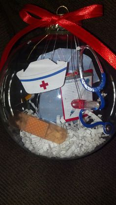 4in blown glass Nurse Ornament on Etsy, $15.00