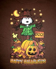 Snoopy and Happy Halloween Snoopy Halloween, Charlie Brown Halloween, Retro Halloween, Charlie Brown Und Snoopy, Halloween Quotes, Halloween Pictures, Halloween Crafts, Happy Halloween, Halloween Decorations