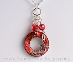 Washer pendant by www.AnnaPereiraDesigns.com