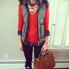 Puffy vest outfits