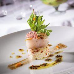 Bar de ligne, risotto de chorizo ibérique Chef Cedric Burtin, restaurant l'Amaryllis #TrueFoodies #fortruefoodiesonly