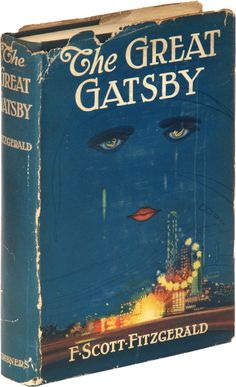 The first edition of The Great Gatsby by F Scott Fitzgerald.
