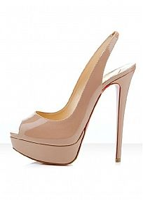 Fashionable Apricot Sheep Leather Stiletto Heel Pumps Peep Toe Wedding / Party Shoes
