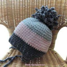 Návod na čepice, ušanky, kloboučky Crochet Baby Hats, Knitted Hats, Knit Crochet, Loom Knitting, Kids And Parenting, Caps Hats, Dolphins, Lana, Crochet Projects