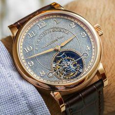 A. Lange & Söhne 1815 Tourbillon Handwerkskunst Watch with it stunning artisan dial.
