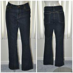Ralph Lauren Sport Jeans Size 31 Straight Leg Dark Blue Denim #RalphLaurenSport #StraightLeg