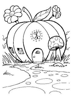 Pumpkin Home #coloring sheet