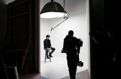 Agence Triptyque's shoot at Bond Street Studio with BonDuke and #artist Will Dailey.