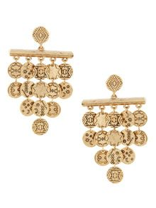 Gold Tiered Coin Drop Earrings by House of Harlow 1960 at Gilt