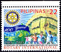 Philippines.  ROTARY INTERNATIONAL CENTENARY.   Scott 2964  A941, Issued 2005 May 31, Php  22. /ldb.