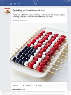 American Flag Kabobs
