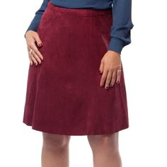 MYNT 1792 Burgundy Faux Suede Fit and Flare Skirt Flirty and figure flattering faux suede skirt. Paneled cut. Hidden back zipper.  *cover photo sourced from mynt1792.com*▪REASONABLE OFFERS WELCOMED or BUNDLE FOR 15% OFF!▪️ Mynt 1792 Skirts