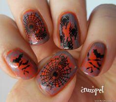 scary halloween nail design - Nail Designs & Nail Art