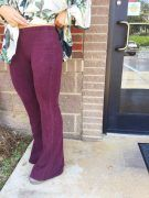 Fun In Flare Pants: Burgundy $46.00
