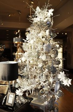 Lovely white Christmas tree