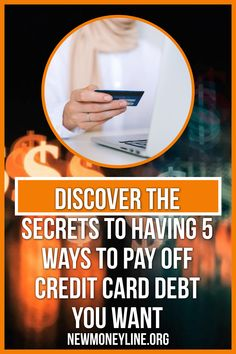 Do you need to know the top 5 ways to pay off credit card debt? Are you looking for ways to reduce or eliminate credit card bills once and for all? In these difficult economic times, many people are finding that they are in over their heads financially. #creditcardebt #creditcardebthelp #creditcardebttips