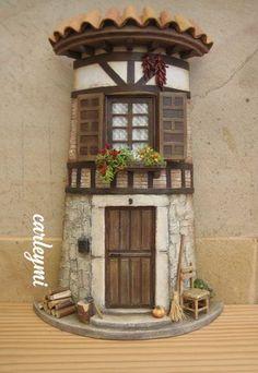Pottery Houses, Ceramic Houses, Box Houses, Fairy Houses, Clay Fairy House, Doll House Plans, Tile Crafts, Clay Fairies, Paperclay