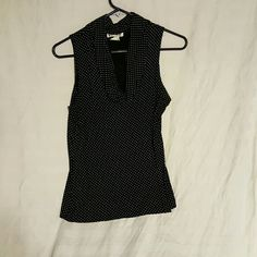 Blouse Polka-dot cowl neck tank top es.se Tops Tank Tops