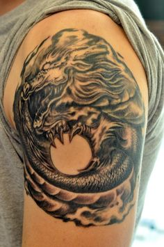Chronic ink Tattoos, Toronto Tattoo - Damon's Dragon on Sean...not complete yet. Top part needs to be finished.