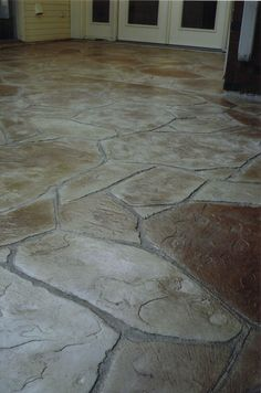 Stamping Concrete Flagstone This Is A Good Possibility Must Make Design Look Very Irregualr