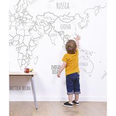 Papel pintado Mapa