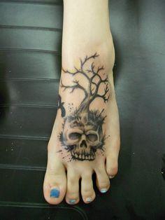 tattoo, foot, tattoos, color, design, ideas, girl tattoos, girl foot tattoos